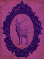 Framed Elk in Violet #89817