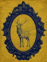 Framed Elk in Yellow #89818