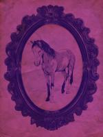 Framed Paint Horse in Violet #89820