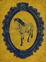 Framed Paint Horse in Yellow #89821