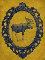 Framed Moose in Yellow #89824