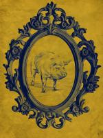 Framed Pig in Yellow #89827