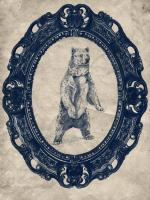 Framed Grizzly Bear in Navy #89828