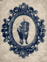 Framed Bison in Navy #89834