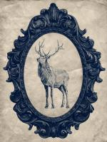 Framed Elk in Navy #89837