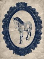 Framed Paint Horse in Navy #89840