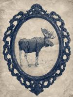 Framed Moose in Navy #89843