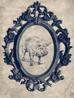 Framed Pig in Navy #89846