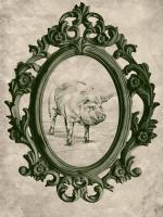 Framed Pig in Evergreen #89847