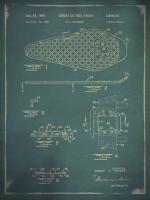 Snowshoe Patent 2 Blue #90014