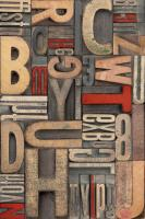 Red Letterpress B #99077