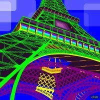Tour Eiffel Green #IG 7499