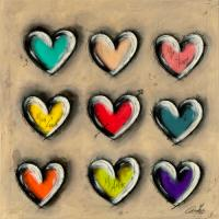 Colored Hearts I #IG 7698