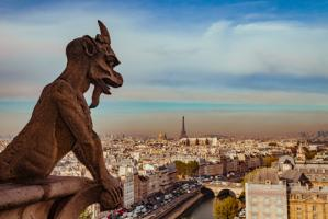 Vue sur Paris depuis Notre Dame #IG 9240